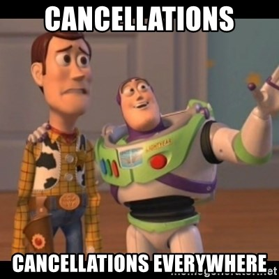 X, X Everywhere  - CANCELLATIONS CANCELLATIONS EVERYWHERE
