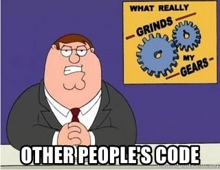 Grinds My Gears Peter Griffin -  other people's code
