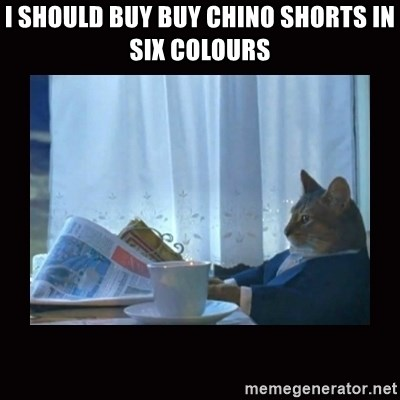 i should buy a boat cat - I SHOULD BUY BUY CHINO SHORTS IN SIX COLOURS