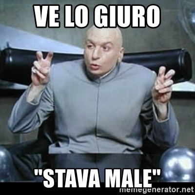 "dr. evil quotation marks - ve lo giuro  ""stava male"""