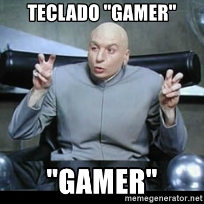 "dr. evil quotation marks - teclado ""gamer"" ""gamer"""