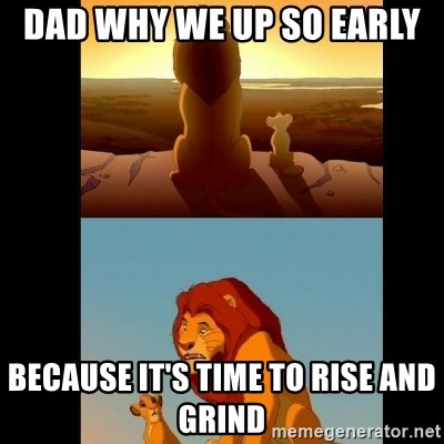 Lion King Shadowy Place - Dad why we up so early  Because it's time to rise and grind