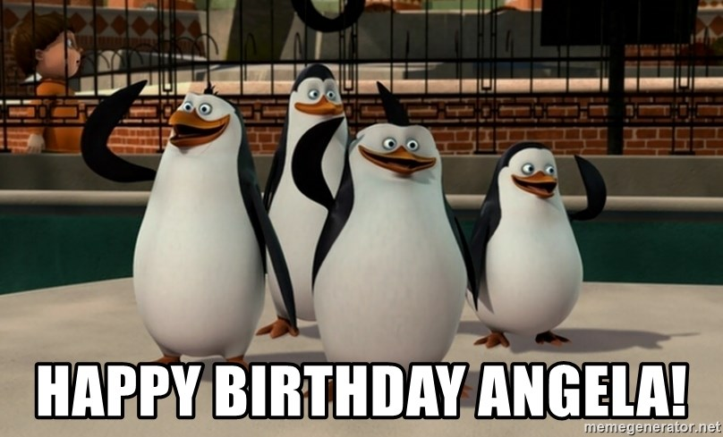 Madagascar Penguin -  Happy Birthday Angela!