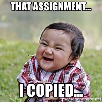 Niño Malvado - Evil Toddler - That Assignment... I copied...