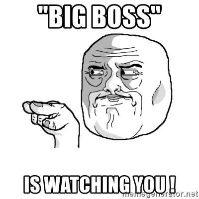 big boss is watching you essay Do you know you are being monitored at work when asked to working employees most likely the answer is yes in today's workplace employee's personal rights are being violated because companies are monitoring employee's activities ranging from emails, phone conversations, keystrokes, and many more.