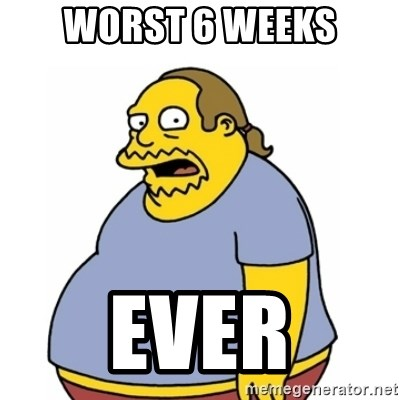 Comic Book Guy Worst Ever - WORST 6 WEEKS EVER