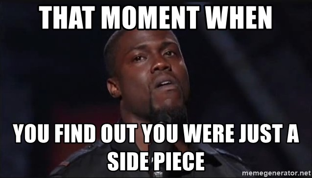 Kevin Hart Face - That moment when You find out you were just a side piece