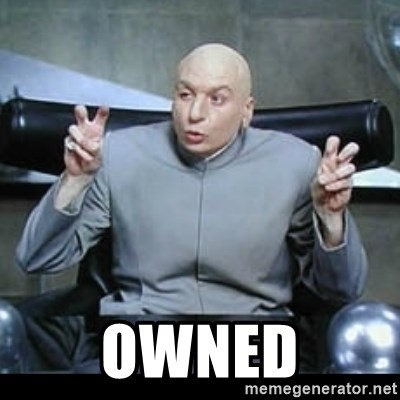 dr. evil quotation marks -  owned