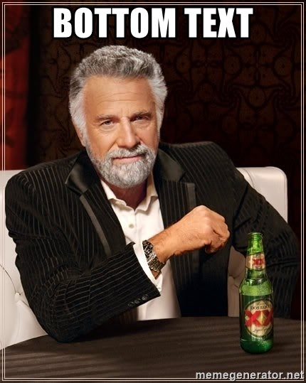 The Most Interesting Man In The World - bottom text