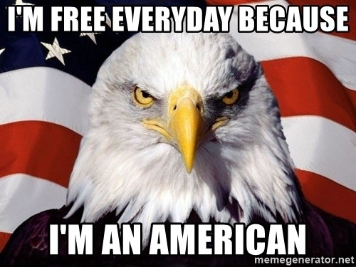 American Pride Eagle - I'm free everyday because  I'm an American