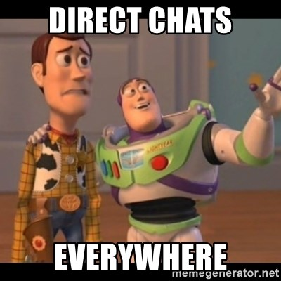 X, X Everywhere  - Direct chats everywhere