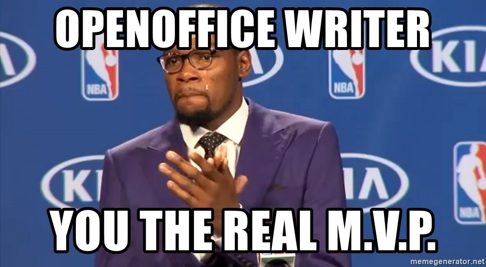 KD you the real mvp f - OpenOffice Writer You The Real M.V.P.