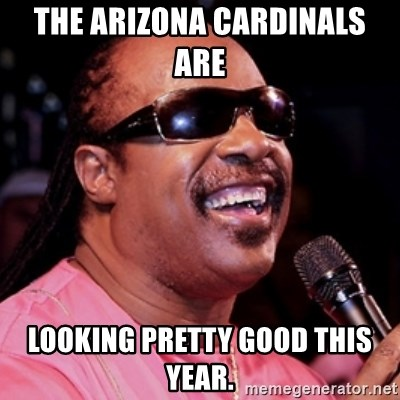 The Arizona Cardinals Are Looking Pretty Good This Year Stevie