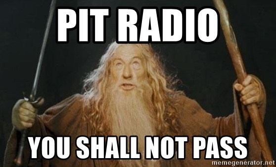 You shall not pass - PIT RADIO YOU SHALL NOT PASS