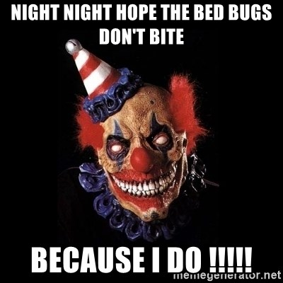 Night Night Hope The Bed Bugs Don T Bite Because I Do Scary