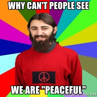 """Damned Pacifist - Why can't people see We are """"peaceful"""""""