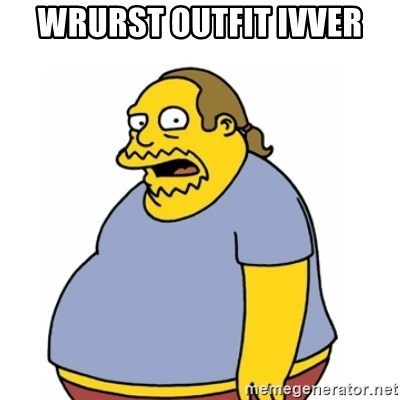 Comic Book Guy Worst Ever - WRURST OUTFIT IVVER