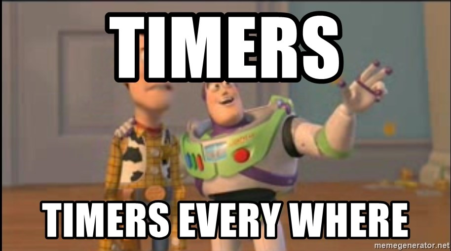X, X Everywhere  - timers timers every where