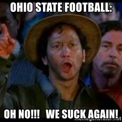 Football ohio state suck