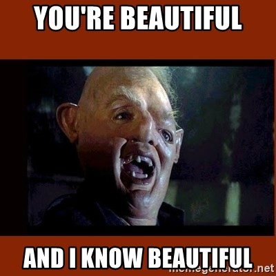 Sloth Goonies  - You're beautiful and I know beautiful