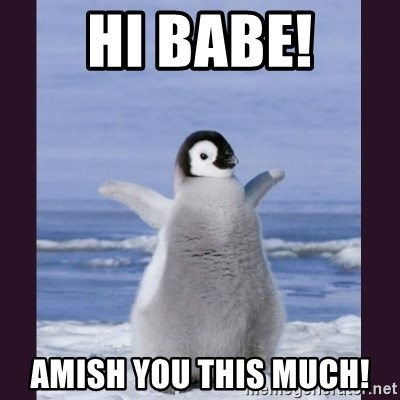 Cute Penguin - Hi babe! amish you this much!