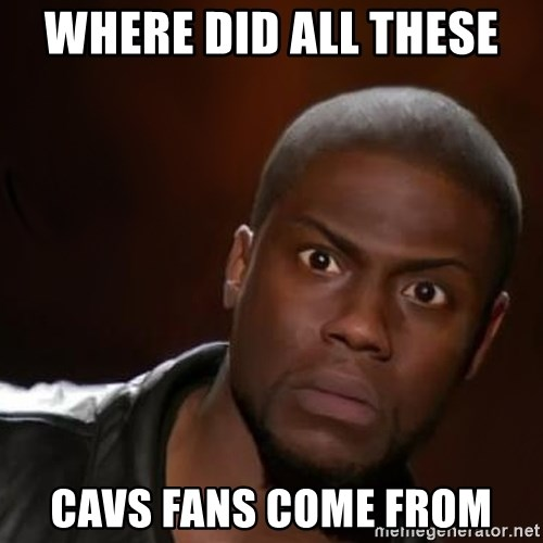 kevin hart nigga - Where Did All These  Cavs Fans Come From