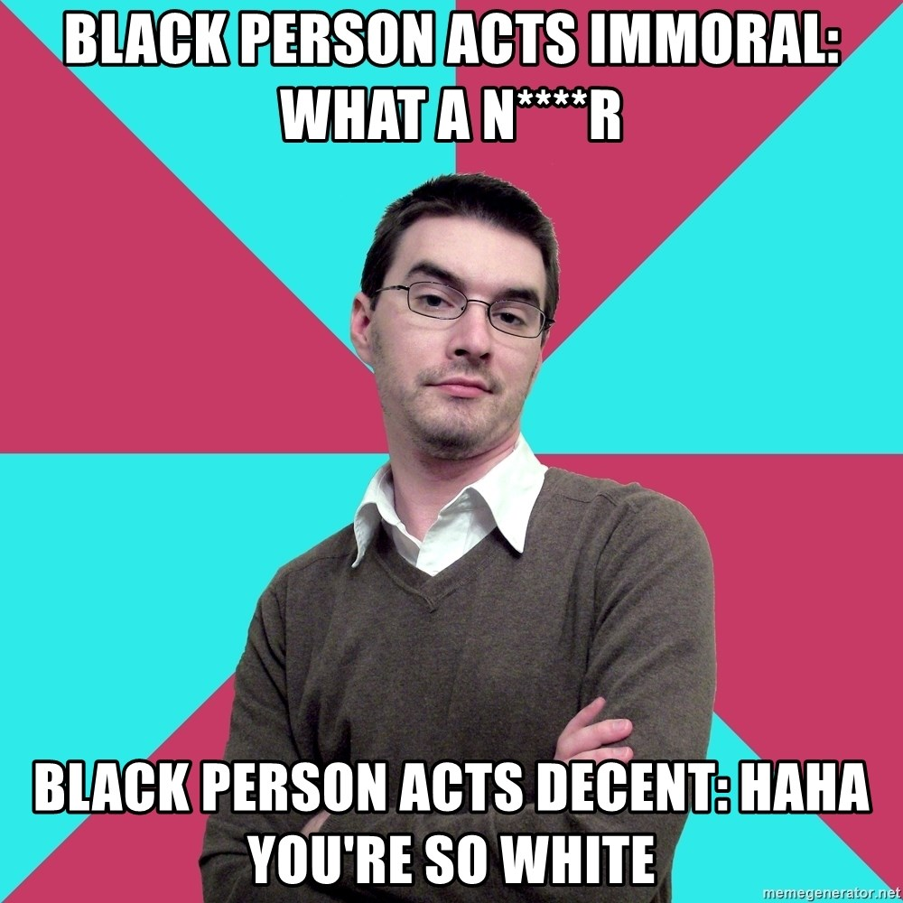 Immoral person. this is what