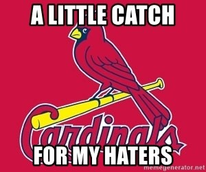 st. louis Cardinals - a little catch for my haters