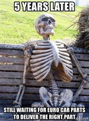 5 Years Later Still Waiting For Euro Car Parts To Deliver The Right
