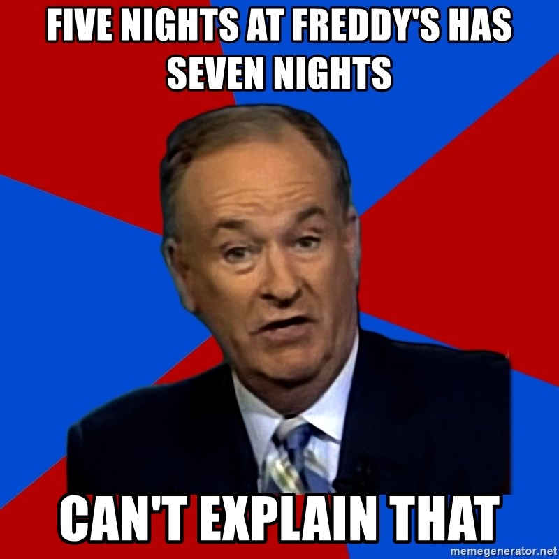 Bill O'Reilly Proves God - five nights at freddy's has seven nights can't explain that