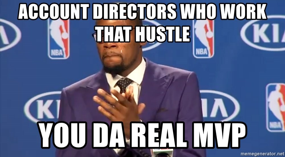 KD you the real mvp f - ACCOUNT DIRECTORS WHO WORK THAT HUSTLE YOU DA REAL MVP