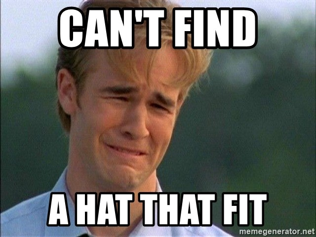 Crying Man - can't find  a hat that fit