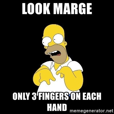look-marge - look marge only 3 fingers on each hand