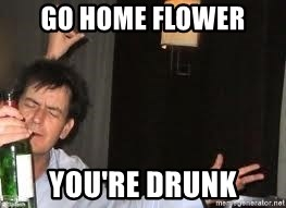 Drunk Charlie Sheen - Go home flower you're drunk