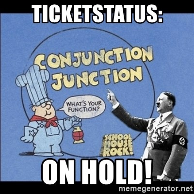 Grammar Nazi - TICKETSTATUS: ON HOLD!