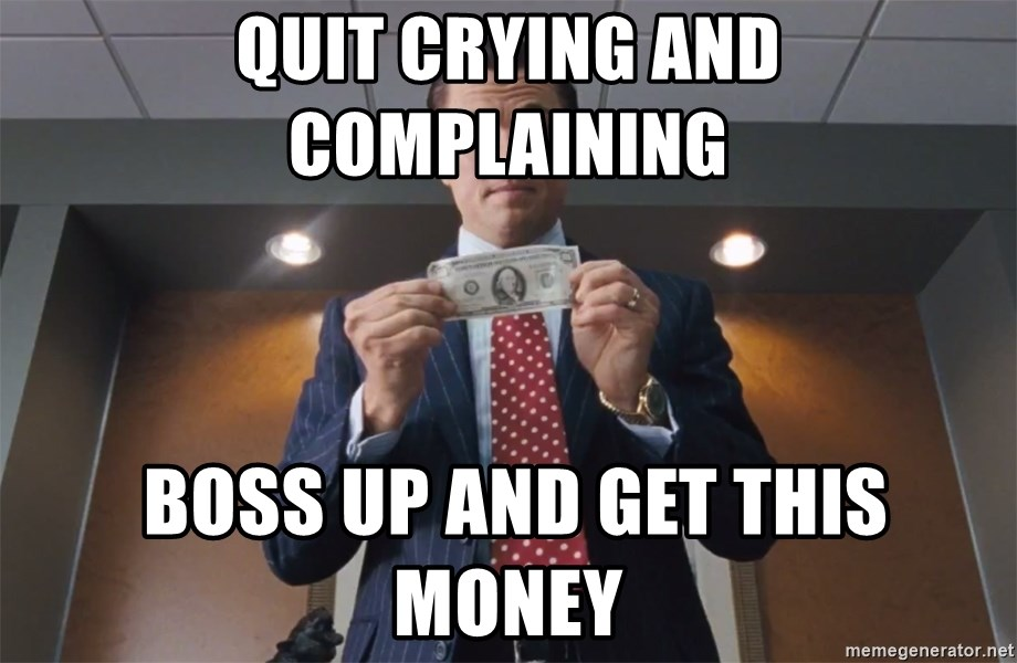 Image result for wolf of wall street memes i quit