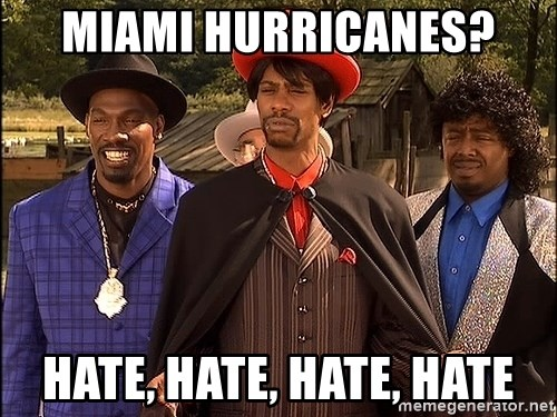 Dave Chappelle Player Haters - Miami Hurricanes? Hate, Hate, Hate, Hate
