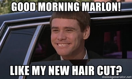 new haircut meme morning marlon like my new hair cut jim carrey 3478