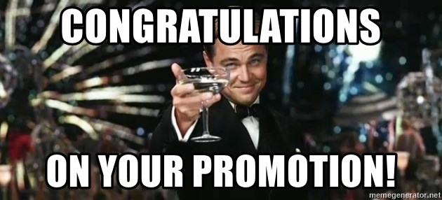Great Gatsby - CONGRATULATIONS ON YOUR PROMOTION!