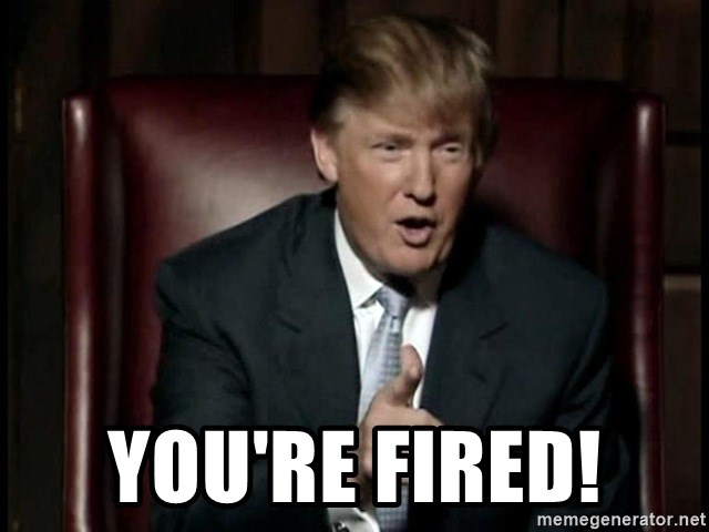 Donald Trump -  YOU'RE FIRED!