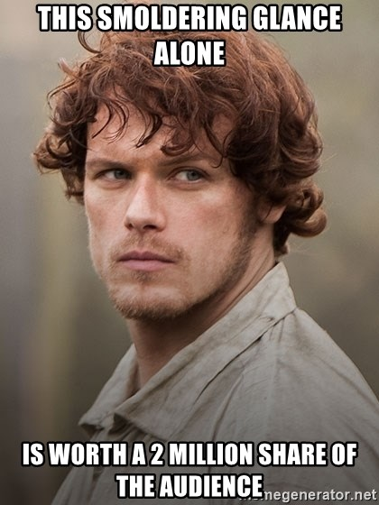 outlander jamie - This smoldering glance alone Is worth a 2 million share of the audience
