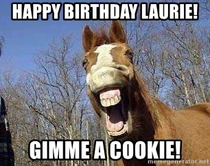 Horse - Happy Birthday Laurie! Gimme a cookie!