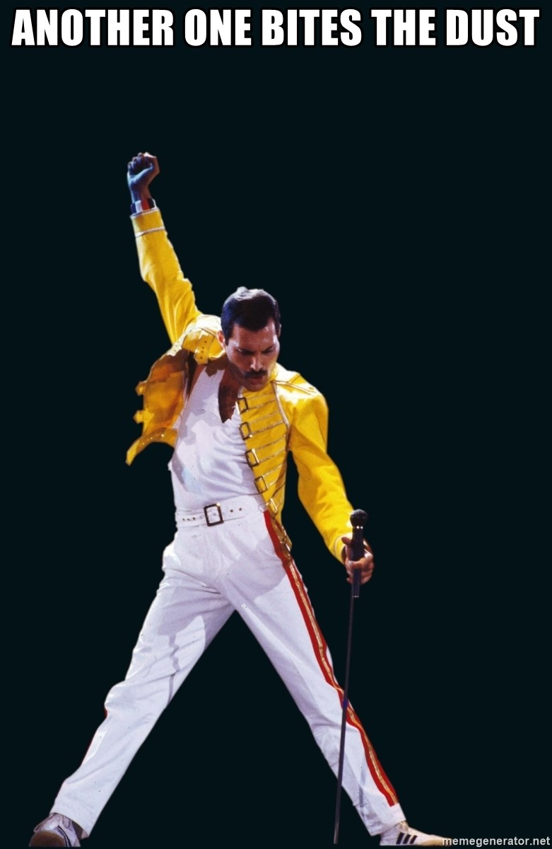 Another One Bites The Dust - Freddie Mercury Victory Pose ...