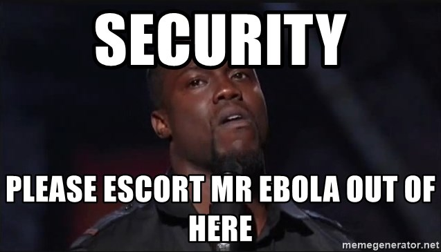 Kevin Hart Face - security please escort mr ebola out of here