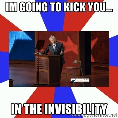 Invisible Obama - im going to kick you... in the invisibility