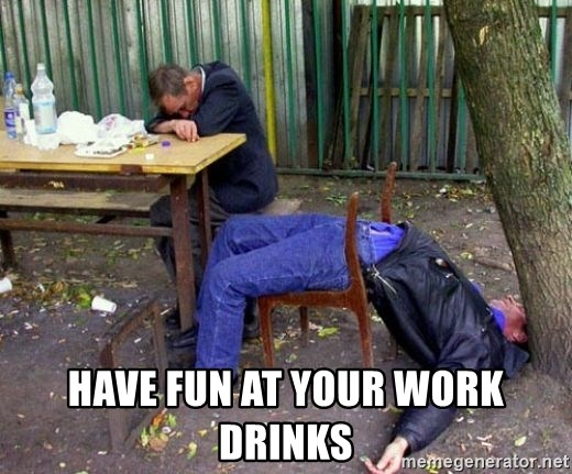 how to drink at work