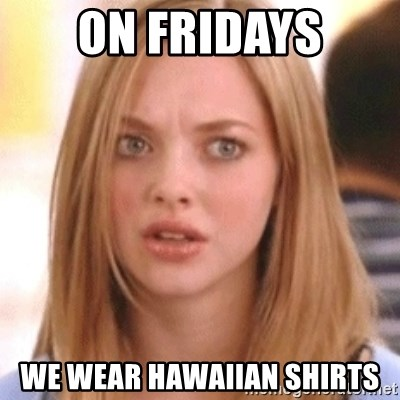 OMG KAREN - On Fridays We wear Hawaiian shirts