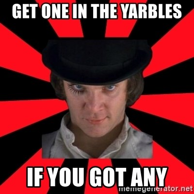 Cynical animeshniki - Get one in the yarbles If you got any