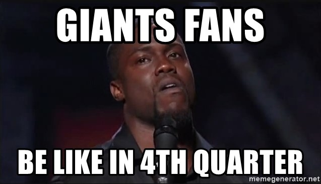 Kevin Hart Face - Giants Fans  Be like in 4th Quarter