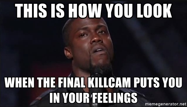 Kevin Hart Face - this is how you look when the final killcam puts you in your feelings